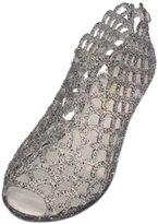 Jiyaru Women's Summer Peep-Toe Wedge Heel Jelly Shoes Sandals US 7