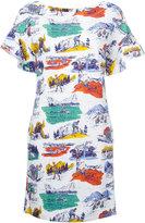 Love Moschino Camping print T-shirt dress - women - Cotton/Spandex/Elastane - 42
