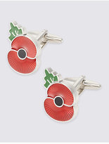 M&s Collection The Poppy® Collection Poppy Cufflinks