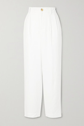 Vince Tapered Twill Pants - White