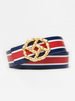 J.Mclaughlin Ruby Reversible Leather Belt in Stripe