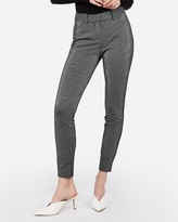 Express Mid Rise Striped Stretch Skinny Pant