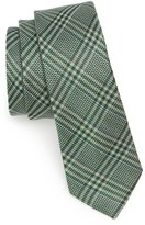 The Tie Bar Columbus Plaid Linen & Silk Tie