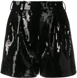 Saint Laurent Sequin-Embellished Shorts