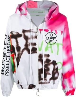 Off-White Graffiti Motifs Hooded Jacket