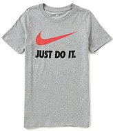 Nike Big Boys 8-20 Just Do It Swoosh Short-Sleeve Tee