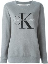 Calvin Klein Jeans lettering logo sweatshirt - women - Cotton - XS