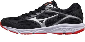 Mizuno Womens Spark Neutral Running Shoes Black/Silver/Fiery Coral