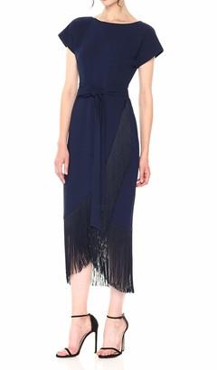 Rachel Roy Women's Short Sleeve Fringe Dress