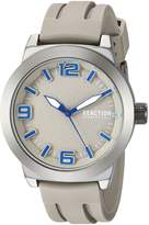Kenneth Cole Reaction Men's Quartz Metal and Silicone Casual Watch, Color: (Model: RK50092004)