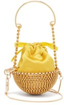 Rosantica Ghizlan Mini Crystal-embellished Clutch Bag - Womens - Yellow
