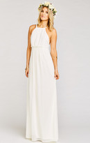 MUMU Amanda Maxi Dress ~ Wedding Cake Chiffon