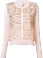Oscar de la Renta bead embellished cardigan - women - Silk/Cashmere - L