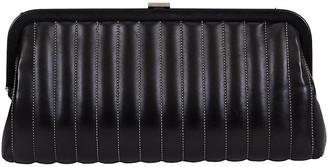 One Kings Lane Vintage Chanel Vertical Quilted Black Clutch - Vintage Lux