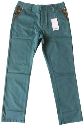 Zadig & Voltaire Green Cloth Trousers for Women