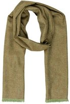 Loro Piana Wool Raw-Edge Scarf