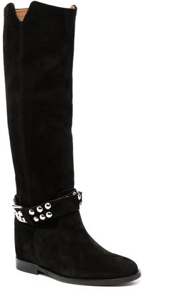 Via Roma 15 Knee-High Wedge Boots