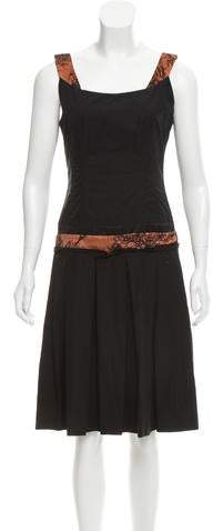 Sophie Theallet Pleated Lace-Trimmed Dress