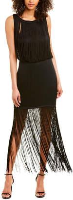 Haute Hippie Backstage Silk-Blend Midi Dress