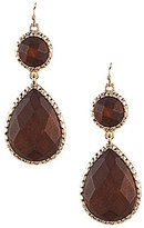 Anna & Ava Jasmine Wood Double-Drop Statement Earrings