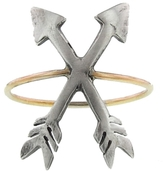 Workhorse Kempley Crossed Arrows Ring - Silver