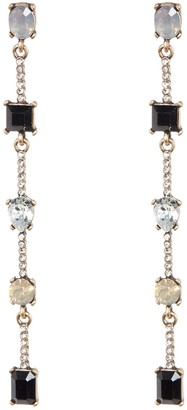 Free Press Stone Drop Linear Earrings