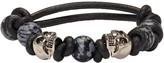 Alexander McQueen Black Stone & Skull Bracelet