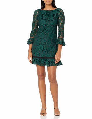 Eliza J Women's Bell Sleeve LACE Shift Dress Cocktail