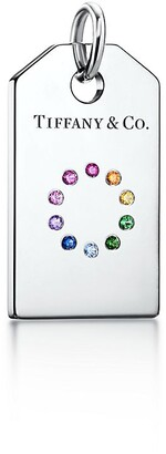 Tiffany & Co. Charms colour wheel tag in 18ct white gold with coloured gemstones