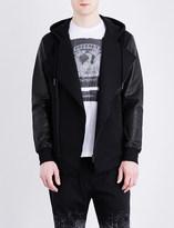 Diesel L-Antique cotton and leather jacket