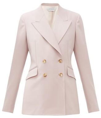 Gabriela Hearst Angela Double-breasted Wool-blend Blazer - Pink