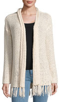 BB Dakota Fringe Accented Crochet Cardigan
