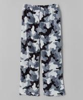 Gray Camo Micro Polar Pajama Bottoms - Kids