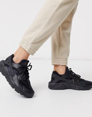 Nike Huarache run sneaker in black