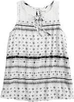 Mudd Girls 7-16 Lace-Up Crochet Tank