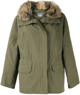 Yves Salomon Hooded Parka Coat