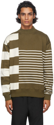 Nanamica Green and Beige Nanamican Sweater