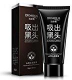 Bioaqua Black Mask Nose Acne Blackhead Remover Peel Mud Deep Cleaning Anti Aging Facial Mask,(2.11 oz)