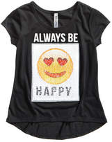 Beautees Big Girls Reversible Sequin Emoji T-Shirt