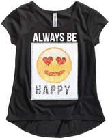 Beautees Reversible Sequin Emoji T-Shirt, Big Girls