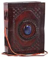 Things2Die4 Embossed Leather Blue Stone 120 Page Unlined Journal with Clasp