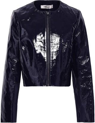 Diane von Furstenberg Patent-leather Jacket