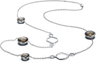Genevive Silver Cz 30In Station Necklace