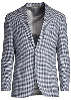 Corneliani Houndstooth Wool Blazer