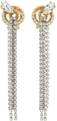 Miu Miu Long Crystal Chandelier Earrings