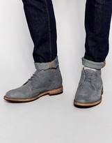 Frank Wright Bank Chukka Boots - Grey