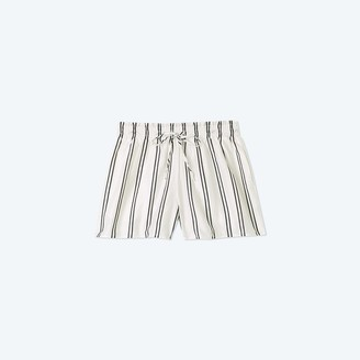 Summersalt The Effortless Shorts - French Stripe in White Sand