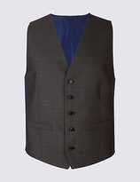 M&S Collection Grey Slim Fit Waistcoat