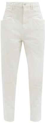 Isabel Marant Nadeloisa High-rise Panelled Jeans - White