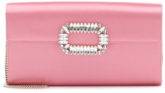 Roger Vivier Exclusive to Mytheresa a Evening Envelope satin clutch